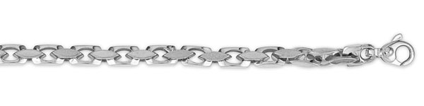 Click here for 14K White Gold 4mm Bullet Link Chain prices
