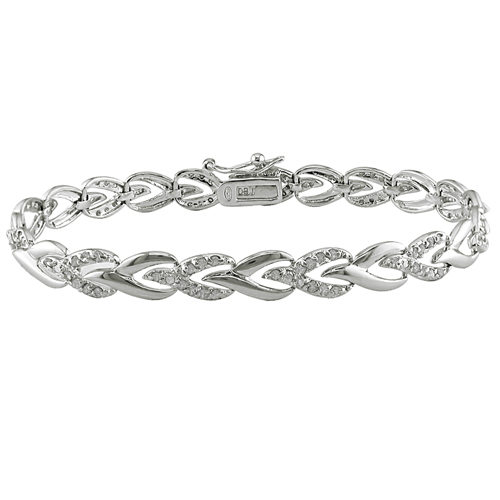 Click here for Sterling Silver 1.00 CTW Diamond Bracelet prices