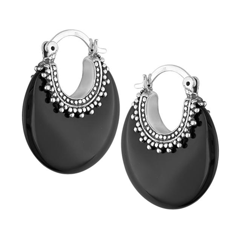Click here for Silver  Onyx Earrings  clip-in backs prices