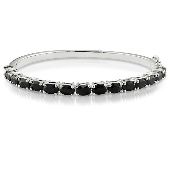 Click here for Sterling Silver Black Sapphire Bangle prices