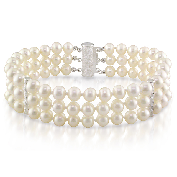 Click here for 3-Strand Freshwater White Pearl Bracelet prices