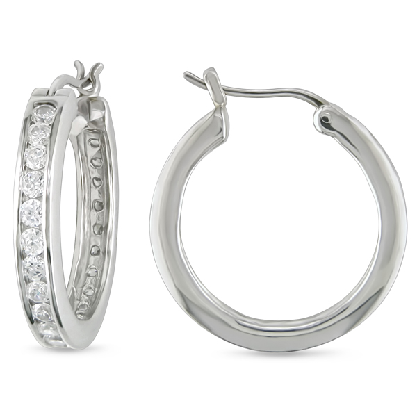 Click here for Silver RD 2.3mm CZ Earrings prices