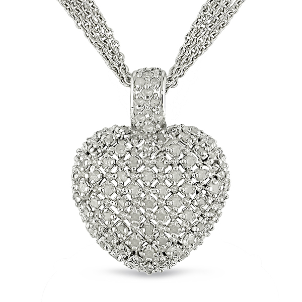 Click here for Sterling Silver 1 CTW Heart Necklace prices