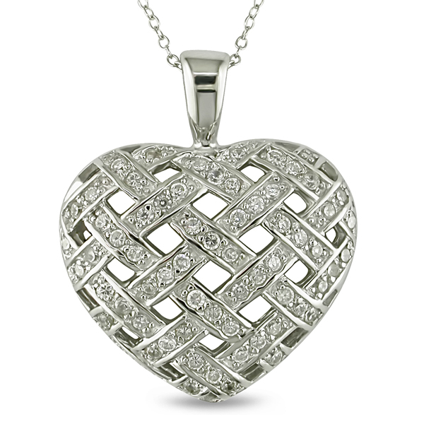 Click here for Sterling Silver CZ Heart Pendant prices