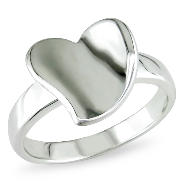 Click here for Silver Heart Shaped  Ring prices