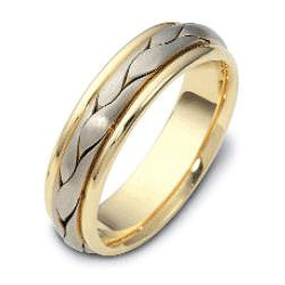 6.00 mm 18K Two Tone Woven Dora Wedding Band