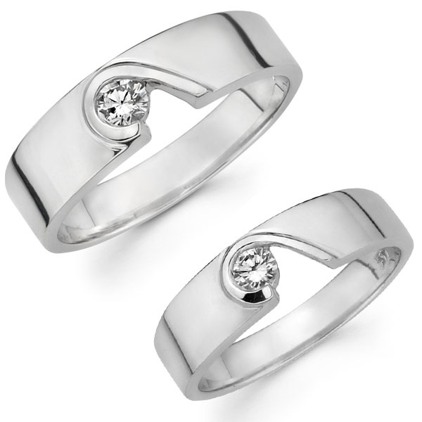 14k white gold unique modern design wedding bands set at jewelryvortexcom free shipping over 100