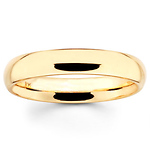 4mm Benchmark Yellow Gold Comfort Fit Wedding Band