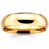 6mm Classic Comfort Fit Yellow Gold Benchmark Wedding Band