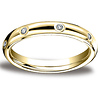 Benchmark 3mm 14K Yellow Gold Comfort Fit Diamond Eternity Ring