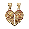 Yellow Gold Break Apart Love Pendant