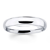14K White Gold 4mm Benchmark Comfort Fit Wedding Band