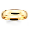 5mm Dome Comfort-Fit 14K-18K Yellow Gold Wedding Band by Benchmark
