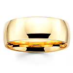 8mm Benchmark Yellow Gold Comfort Fit Wedding Band
