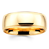 8mm Benchmark Yellow Gold Comfort Fit Milgrain Band
