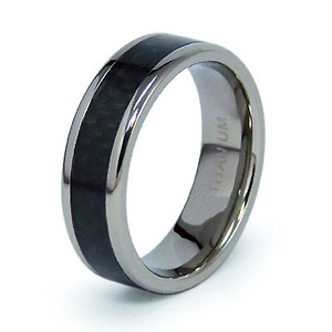 7mm Carbon Fiber Inlay Titanium Band