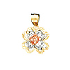 Tri Color Flower Charm