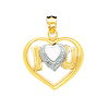 Pave Heart I Love U Charm