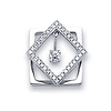 18K White Gold Diamond Square Pendant (0.17 ctw)