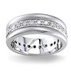 Diamond Wedding Band 14K White Gold 0.56 TCW