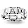 Diamond Wedding Band 14K White Gold 0.24 TCW