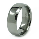 8mm High Polish Titanium Wedding Band
