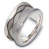 11.50 mm Titanium & Gold Dora Wedding Band