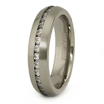 5.5mm Titanium Cubic Zirconia Eternity Ring