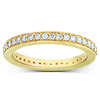 0.50ct 14K Yellow Gold Pave Set Eternity Ring