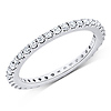 14K White Gold 0.50ct Full Prong Set Eternity Ring