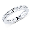14K White Gold 1.00ctw Channel Set Round Diamond Eternity Ring