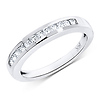 14K White Gold 0.33ct Princess Channel Set Eternity Ring