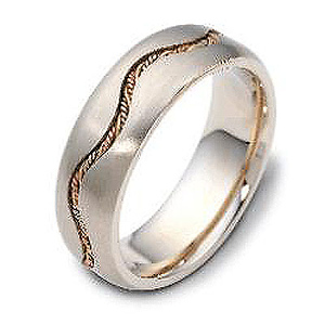 7.00 mm Rope Braid 14K Gold Dora Wedding Band