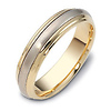 5.50 mm 18K Two Tone Dora Gold Wedding Band