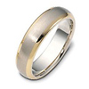 Classic 6mm 18K Two Tone Gold Wedding Band by Dora