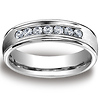 Channel Set Round Diamond 14K White Gold Wedding Band
