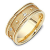 0.15 tcw Triangle 14K Yellow Gold Dora Wedding Band
