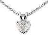 0.40ct Diamond Heart Shape Solitaire Pendant