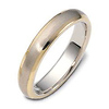 4.50 mm Two Tone 18K Gold Wedding Ring