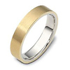 5.00 mm 14K Two Tone Gold Dora Wedding Band