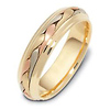 6mm 18K Tri Color Gold Woven Dora Wedding Band