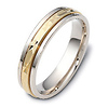 Two Tone 5.00mm 14K Two Tone Gold Wedding Band