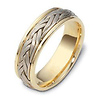 7.00 mm 14K Two Tone Woven Dora Wedding Band