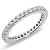 14K White Gold 0.75ctw Prong Set Eternity Ring