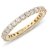 Brilliant 1.00ctw Pave Set Diamond Eternity Ring in 14K Yellow Gold