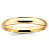 3mm Classic Dome Comfort Fit Yellow Gold Wedding Band