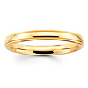 2mm Milgrain Yellow Gold Wedding Band