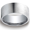 10mm Flat Satin Comfort-Fit Argentium Silver Men's Wedding Band