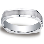 5mm Comfort-Fit Four-Sided Argentium Silver Wedding Band