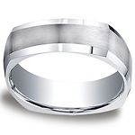 7mm Comfort-Fit Four Sided Argentium Silver Wedding Band